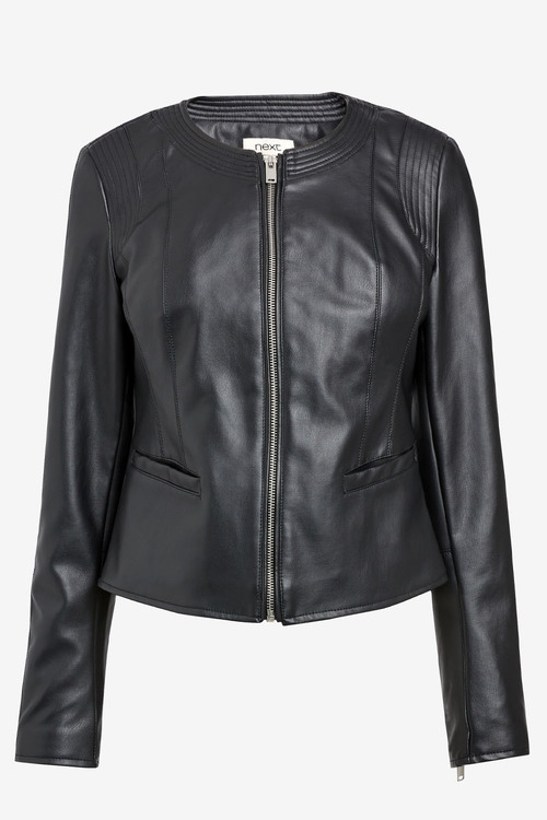 Next Black Pu Formal Jacket