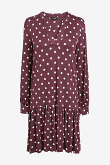 Next Berry Print Tiered Dress - 255426