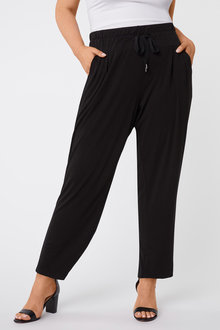 Plus Size - Drape Leisure Pants - 255469