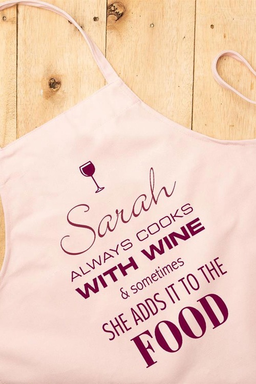 Personalised Cooks with Wine Apron