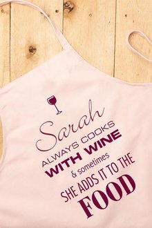 Personalised Cooks with Wine Apron - 255470