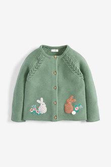 Next Green Bunny Cardigan - 255482