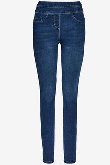 Next Dark Blue Super Stretch Soft Sculpt Pull-On Denim Leggings - 255488
