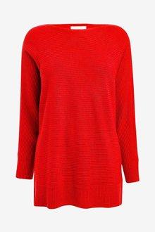 Next Red Cosy Rib Tunic - 255497