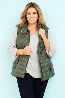 Plus Size - Puffer Vests - 255528