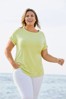 Plus Size - Sara Knit Shell Top - 255536