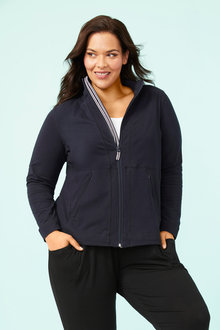 Plus Size - Zip Through Leisure Jacket - 255545