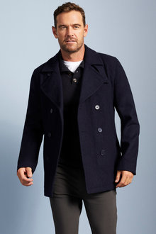 Southcape Wool Rich Pea Coat - 255550