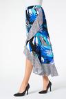 Palm Print Maxi Skirt