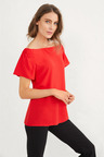 Short Sleeve Off Shoulder Top