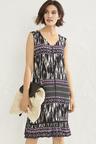 Sleeveless Print Dress
