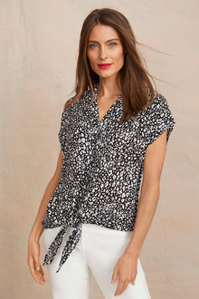 Tie Front Shirt - 255590