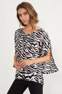 Zebra Print Blouse - 255596