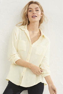 Textured Popover Shirt - 255629