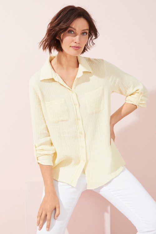 Textured Popover Shirt