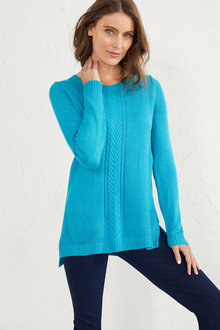 Cable Front Pullover - 255672