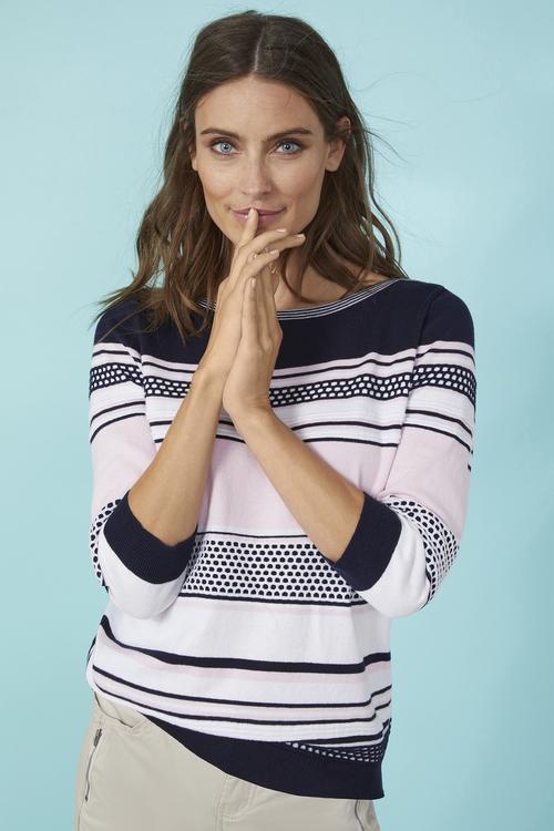 Stripe Boatneck Pullover