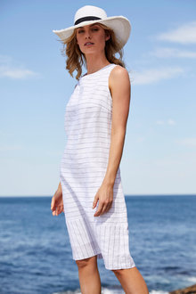 Stripe Linen Dress - 255679