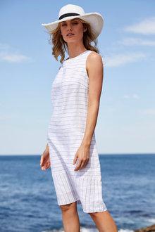 Stripe Linen Dress - 255679