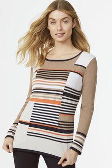 Multi Stripe Pullover - 255690