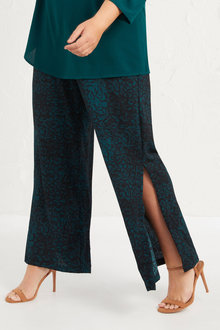 Plus Size - Wide Leg Pant - 255720