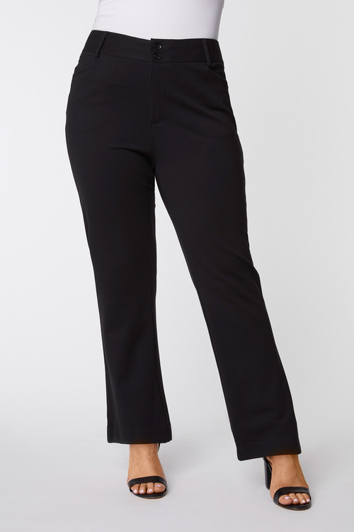 Fly Front Ponte Pant