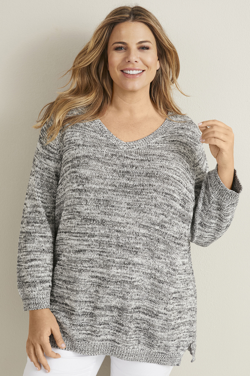 3/4 Sleeve Multi Yarn Jumper