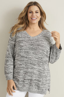 3/4 Sleeve Multi Yarn Jumper - 255765