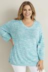 Plus Size - 3/4 Sleeve Multi Yarn Jumper