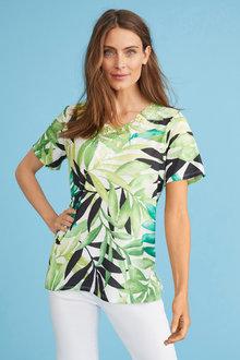 Short Sleeve Print Top - 255797