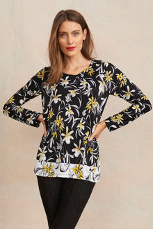 Capture Jacquard Knit Print Scoop Neck - 255813