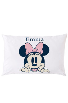 Personalised Minnie Mouse Peeking Pillowcase - 255831