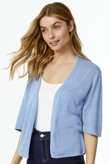 Textured Crop Cardigan - 255835