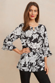 Notch Neck Top Blouse - 255862