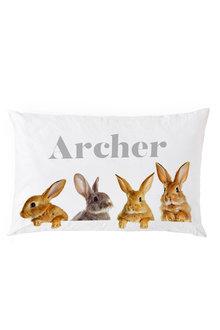 Personalised Peeking Bunny Pillowcase - 255883