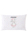 Personalised Vintage Pink Bunny Pillowcase