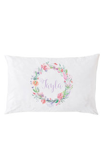 Personalised Circle of Flowers Pillowcase - 255886