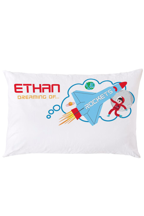 Personalised Rocket Pillowcase