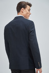 Next Textured Blazer-Double Breasted Slim Fit