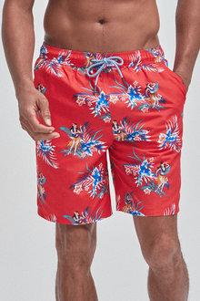 Next Floral Hawaiian Print Swim Shorts - 255899