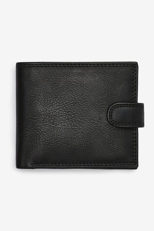 Next PU Popper Front Wallet