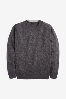 Next Cotton Rich Stag Marl Jumper - 255917