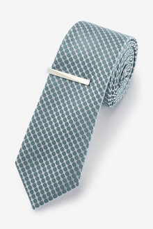 Next Geometric Tie With Tie Clip - 255928