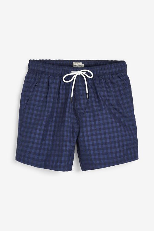 Next Seersucker Check Swim Shorts