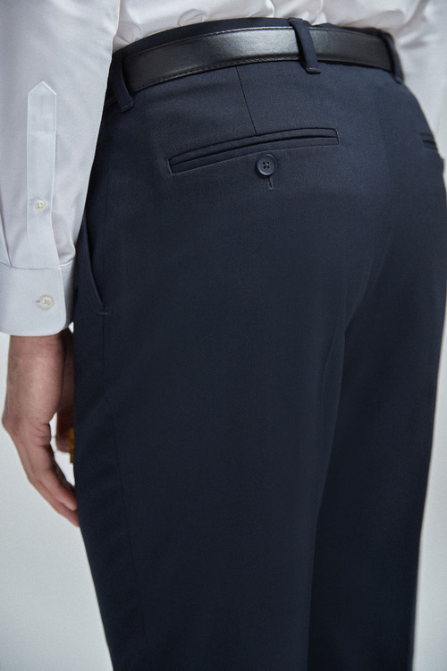 Next Belted Stretch Trousers-Regular Fit