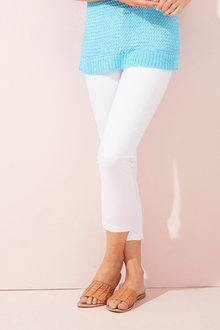 Fly Front 7/8th Slim Jean - 255956