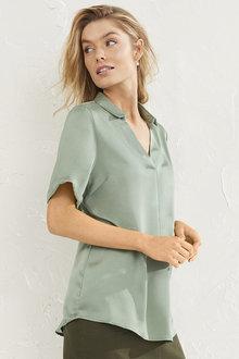 Short Sleeve Collared Shirt - 255961