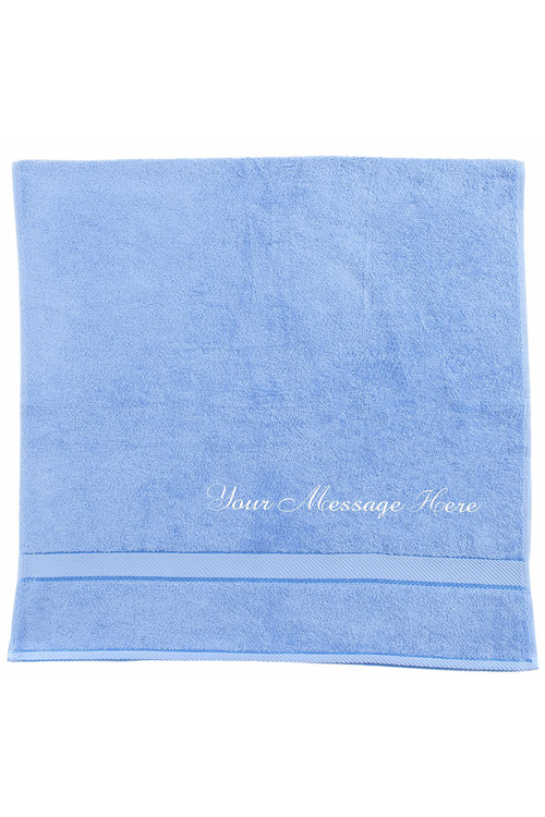 Personalised Mid Blue Bath Towel