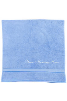 Personalised Mid Blue Bath Towel - 255986