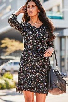 Urban Frill Print Dress - 255998